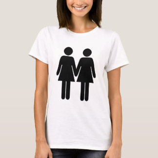 Gay couple (women) hand in hand T-Shirt