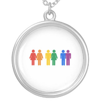 Gay Couples Silver Plated Necklace
