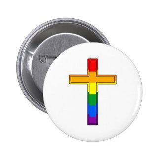 Gay Cross 6 Cm Round Badge