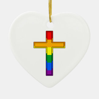Gay Cross Christmas Ornament