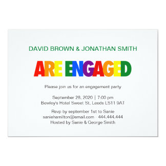 Gay Engagement Party | Rainbow Flag Card