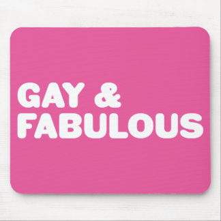 Gay & Fabulous Pink Statement Customizable Color Mouse Pad