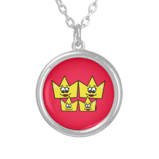 Gay family - Women - Queens - To glue Silver Plated Necklace