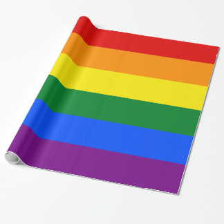 Gay Flag Colors Rainbow Wide Stripe Wrapping Paper