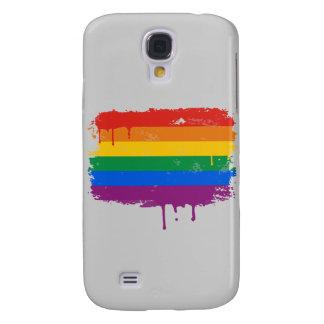 GAY FLAG DRIPPING GALAXY S4 CASE