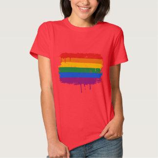 GAY FLAG DRIPPING SHIRTS