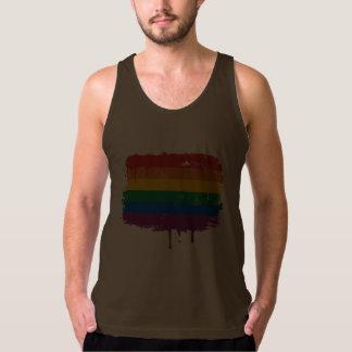 GAY FLAG DRIPPING TANKS