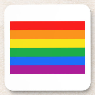 GAY FLAG ORIGINAL DRINK COASTER