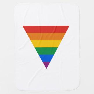 GAY FLAG TRIANGLE BUGGY BLANKET
