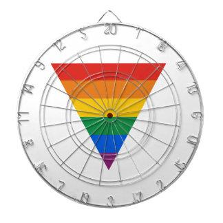 GAY FLAG TRIANGLE DARTBOARD