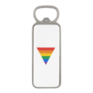 GAY FLAG TRIANGLE MAGNETIC BOTTLE OPENER