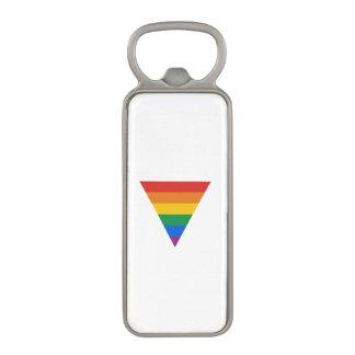 GAY FLAG TRIANGLE MAGNETIC BOTTLE OPENER