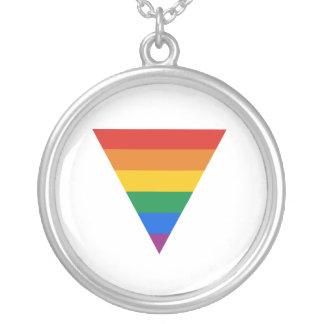 GAY FLAG TRIANGLE PENDANT