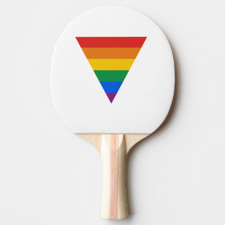 GAY FLAG TRIANGLE Ping-Pong PADDLE