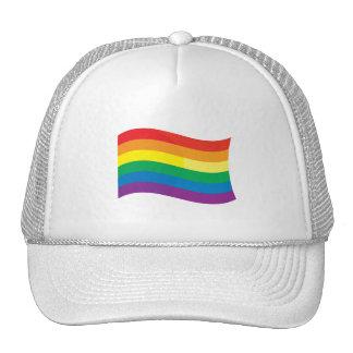 GAY FLAG WAVING TRUCKER HAT