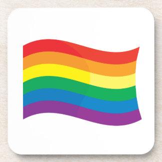 GAY FLAG WAVING DRINK COASTER