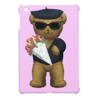 Gay Flowers bouquet Teddy Bear iPad Mini Case