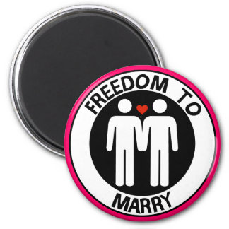 Gay Freedom To Marry 6 Cm Round Magnet
