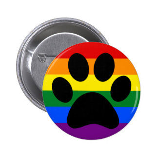 Gay furry pride 6 cm round badge