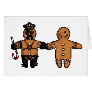 gay gingerbread couple greeting card