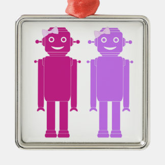 Gay Girl Robots LGBT Holiday Ornament