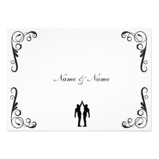 Gay Groom and Groom Wedding Invite