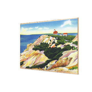Gay Head Cliffs and Life Saving Station View Canvas Print