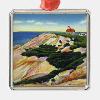 Gay Head Cliffs and Life Saving Station View Christmas Ornament