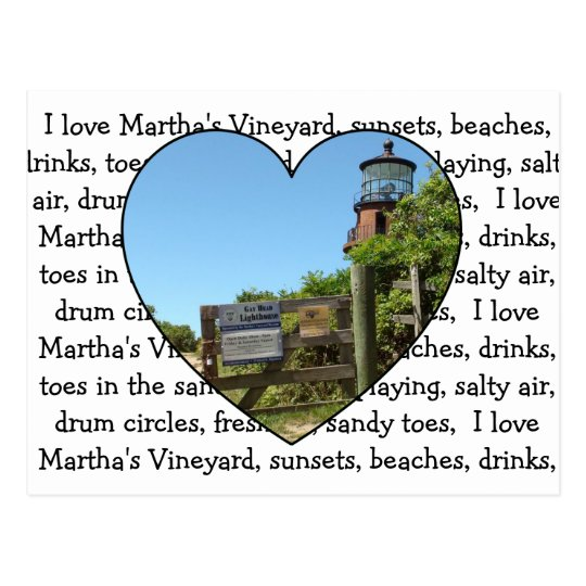 Gay Head Light House Martha's Vineyard Post Card