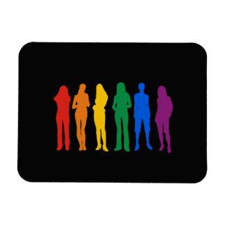 GAY HUMOR PRIDE GIRLS - .png Rectangular Magnets