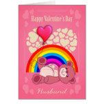 Gay, Husband, Valentine's Day With Teddy Bear Greeting Card