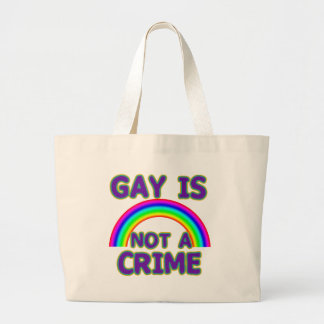 Gay Is Not a Crime Tshirts, Sweats, Hoodies Jumbo Tote Bag