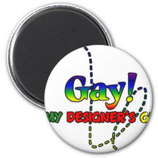 Gay It's My Designers Gene's 6 Cm Round Magnet