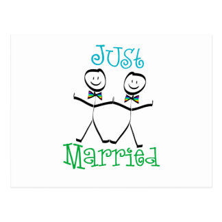 Gay Just Married Postcard