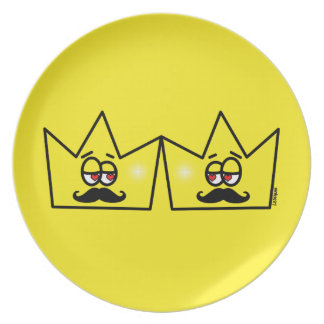 Gay King Crown King Crown Party Plate