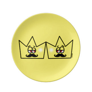 Gay King Crown King Crown Porcelain Plates