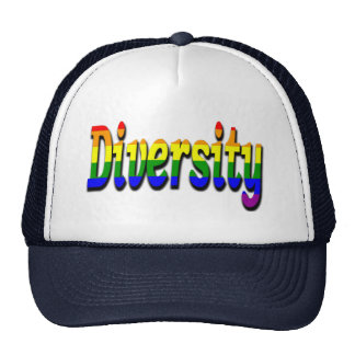 Gay Lesbian Diversity In rainbow flag Colors Trucker Hats
