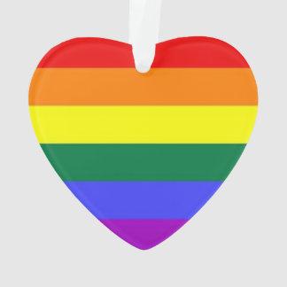 Gay Lesbian LGBT Rainbow Pride Flag Ornament