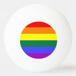 Gay Lesbian LGBT Rainbow Pride Flag Ping Pong Ball