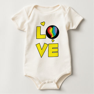 "Gay Lesbian ""Love"" Pride Heart Gifts Baby Bodysuit"