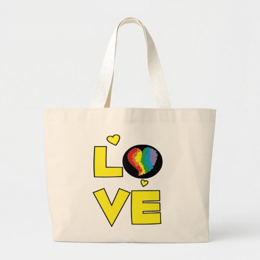 "Gay Lesbian ""Love"" Pride Heart Gifts Bag"