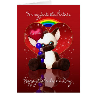 Gay / Lesbian Partner Valentine's Day Card - Cute