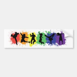 Gay & Lesbian Pride Bumpersticker Bumper Sticker