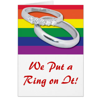 Gay Lesbian Wedding Card