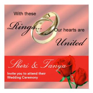 Gay Lesbian Wedding Ceremony Invitation