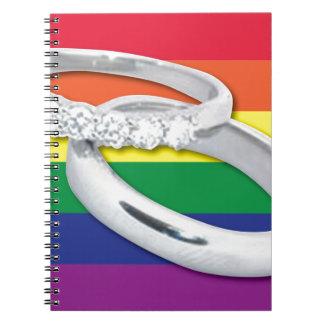 Gay Lesbian Wedding Notebook