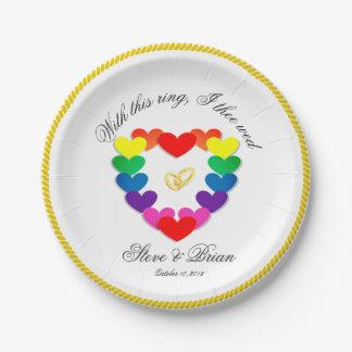 Gay Lesbian Wedding Party Custom Paper Plates