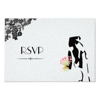 Gay Lesbian Wedding RSVP 9 Cm X 13 Cm Invitation Card