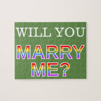 """Gay/Lesbian """"WILL YOU MARRY ME?"""" Marriage Proposal Jigsaw Puzzle"""