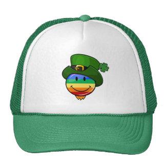 Gay Lgbt Rainbow Flag St. Patrick's Day Smiley Cap